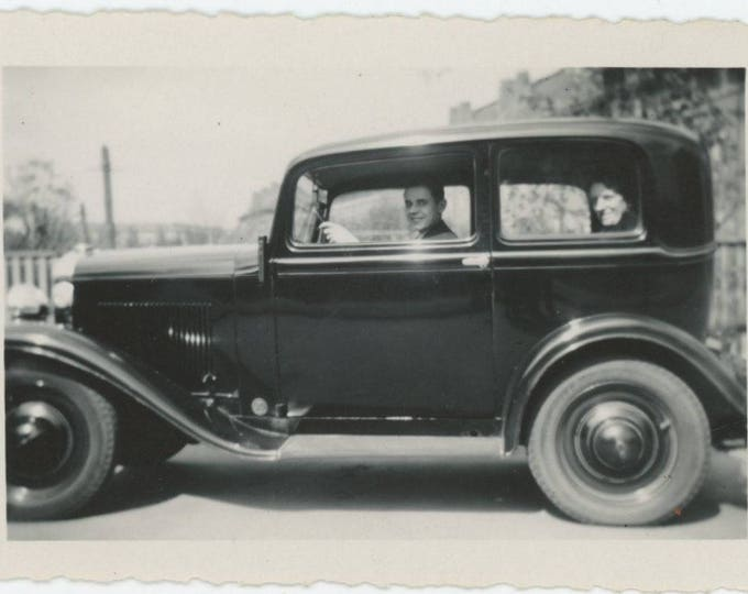 Vintage Snapshot Photo: You Can Drive My Car, c1920s-30s [83655]