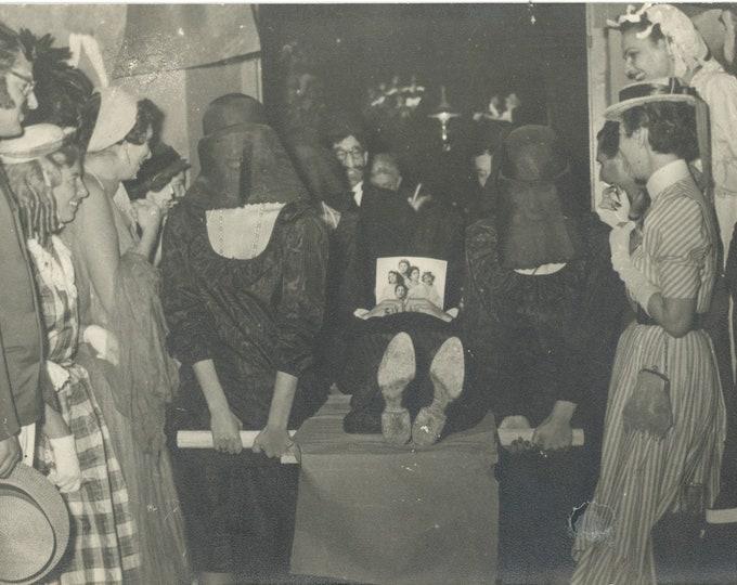 Vintage Snapshot Photo: Mock Funeral, Greece, c1950s [86697]