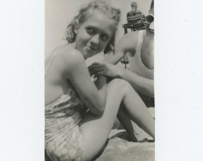 Vintage Snapshot Photo: At the Beach [86683]