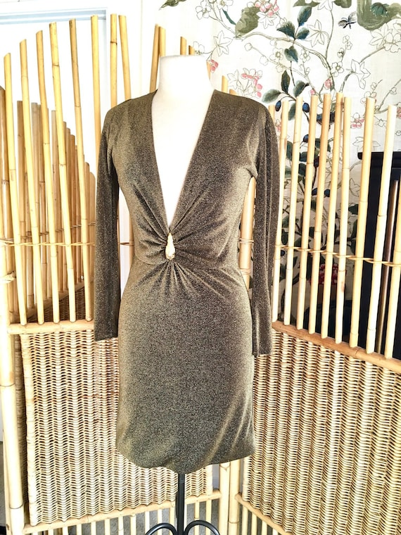 Vintage Tom Ford Gucci Dress with Plunging Necklin