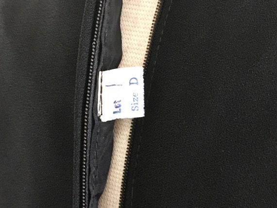 Vintage 70s Black Crepe Palazzo Pant Jumpsuit with Keyhole Bodice