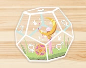 Sailor Moon Terrarium - Clear Die Cut Vinyl Sticker