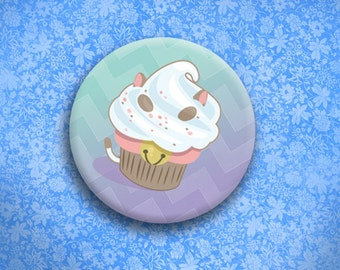 Puppycake Cupcake Button
