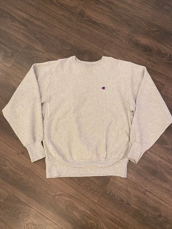 90s Reverse Weave Champion Chunky Heather Grey Swe