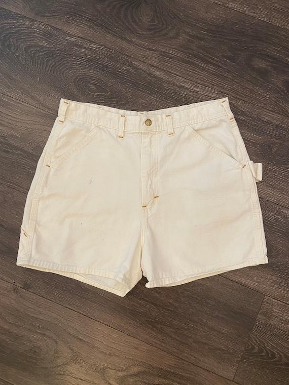 70s Workwear Carter's Ivory Carpenter Shorts