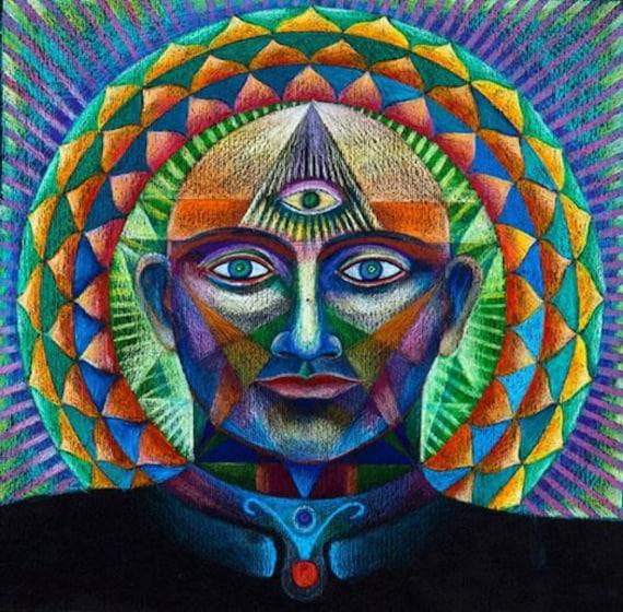 Mandala Du Troisieme œil Impression Sur Toile Decoration Etsy