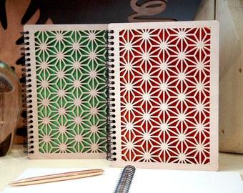 Notebook, sketchbook A5 drawing wood laser cut Wood Journal