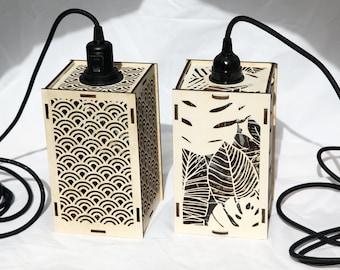 Wood lamp - lasercut