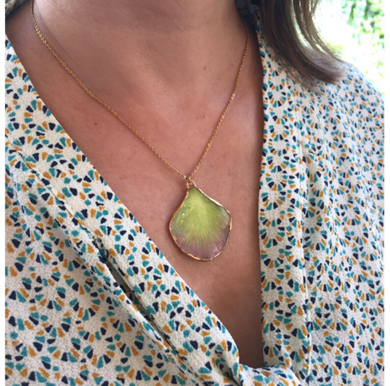 Orchid necklace Real orchid pendant necklace Real orchid petal necklace Birthday gifts for her Necklaces for women Real flower necklace gift