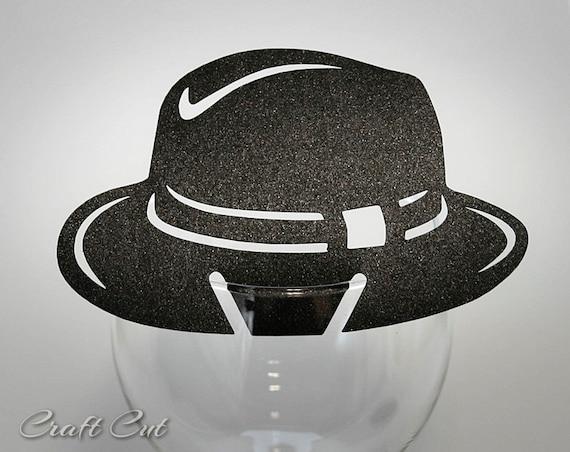 Cappello trilby nero partito Al Capone cappello posto Card 20  646c23f4199f