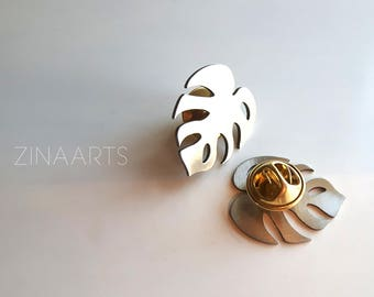 Pin Brooches Leaves