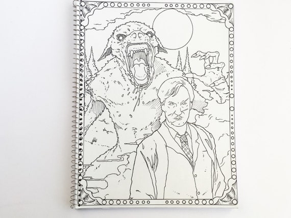 Harry Potter Adult Coloring Book Notebook With Lupin And Werewolf