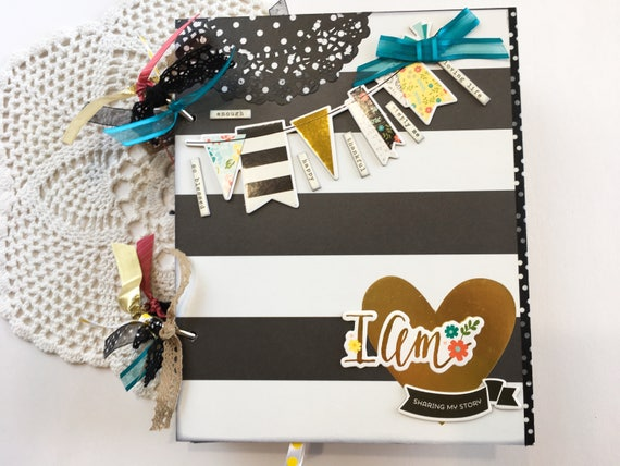 Personalized Scrapbook With Title I Am Photo Journal Smash Etsy