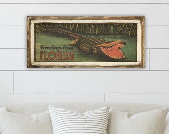 "Alligator Wall Art | 16"" x 36"" 
