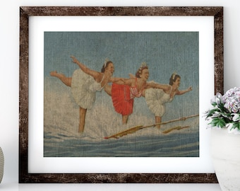 Cypress Gardens Linen Print for Framing, Florida Artwork