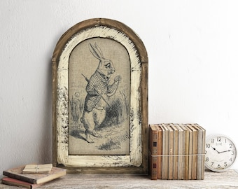"White Rabbit Wall Art | 14"" x 22"" 