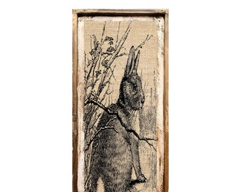 "Rabbit Wall Art | 16"" x 36"" 