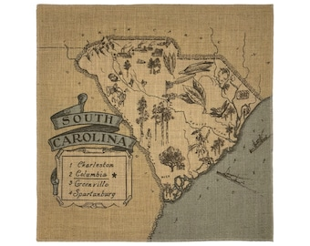 South Carolina Burlap Panel
