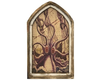"Octopus Wall Art | 18"" x 30"" 