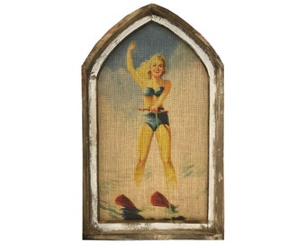 "Water Skier Wall Art | 18"" x 30"" 