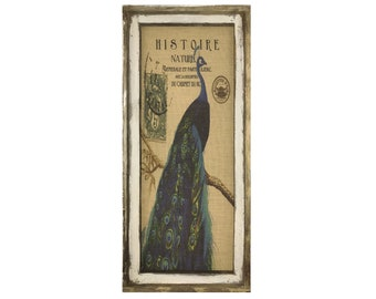 "Peacock Wall Art | 16"" x 36"" 