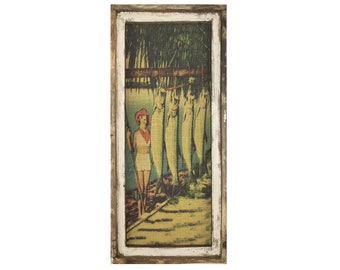 "Tarpon Fishing Wall Art | 16"" x 36"" 