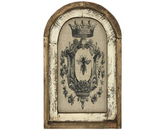 "Bee Crest Wall Art | 14"" x 22"" 