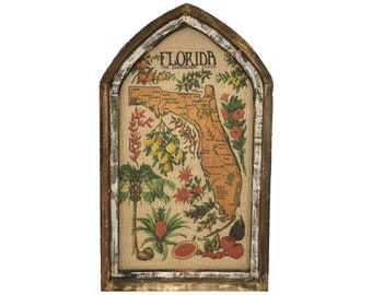 "Florida Map Wall Art | 18"" x 30"" 
