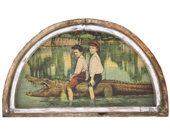 "Alligator Wall Art | 30"" x 18"" 