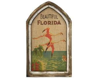 "Florida Flamingos Wall Art | 18"" x 30"" 