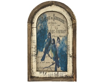 "Blue Birds Wall Art | 14"" x 22"" 