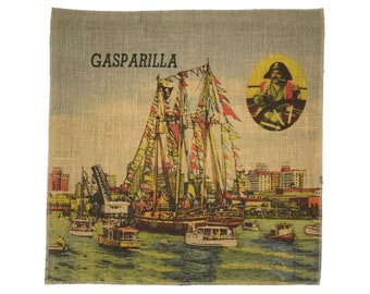 Gasparilla Burlap Fabric, Printed Fabric Panel for Upholstery and Framing