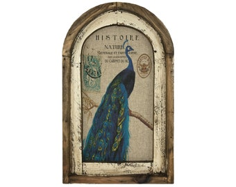 "Peacock Wall Art | 14"" x 22"" 