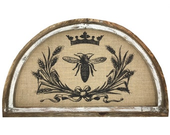 "Queen Bee Wall Art | 30"" x 18"" 