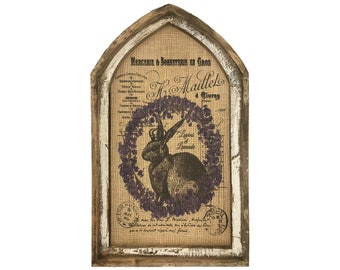 "Lavender Rabbit Wall Art | 18"" x 30"" 