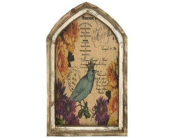 "Blue Bird Wall Art | 18"" x 30"" 