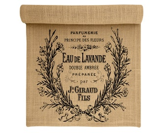 Burlap Table Runner, Lavender Burlap Runner, Paris Table Linens, TheWatsonShop