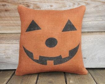 Pumpkin Pillow, Halloween Decoration, Spooky, Porch, Trick or Treat, Party Decor