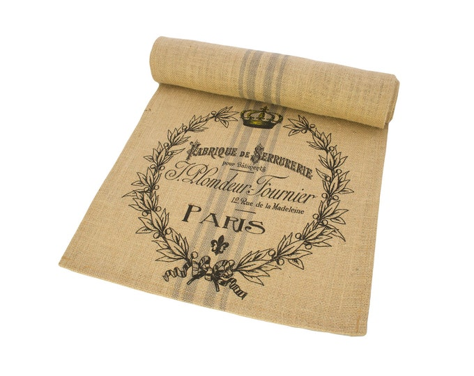 Featured listing image: Paris Table Runner, Burlap Runner, French Table Linens, TheWatsonShop