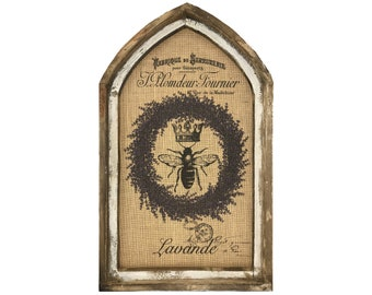 "Lavender Bee Wall Art | 18"" x 30"" 