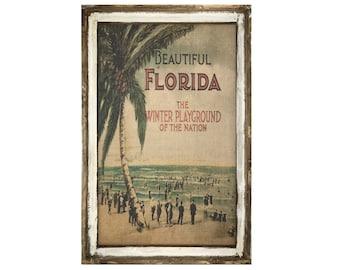"Florida Wall Art | 24"" x 36"" | Coastal Wall Art | Florida Postcard | Beach Wall Decor |"