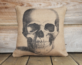 Skull Pillow Pillow, Halloween Decoration, Spooky, Porch, Trick or Treat, Party Decor