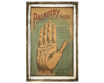 "Palmistry Wall Art   24"" x 36""   Palm Reading   Eclectic Wall Art   Bohemian Decor"
