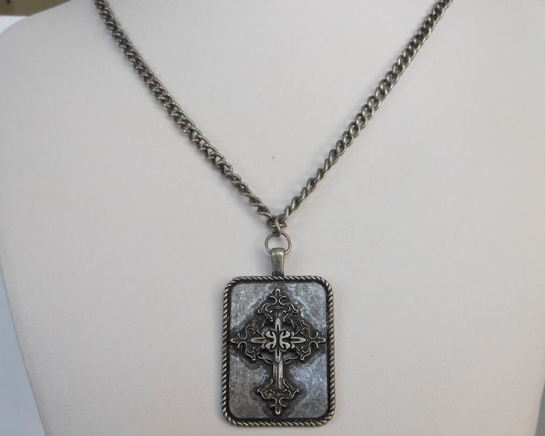 Renaissance Large Ornate Cross Necklace