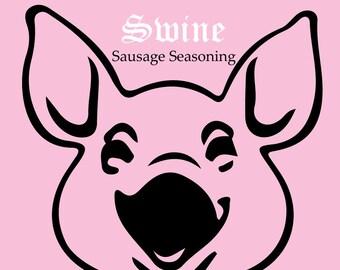 PORK BBQ RUB | Sacred Swine Sausage Spice Seasoning | sausage seasoning | sausage spices | ground pork seasoning |