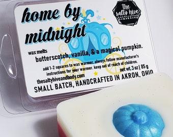 home by midnight wax melts - cinderella inspired - fall wax melts - butterscotch, vanilla, pumpkin
