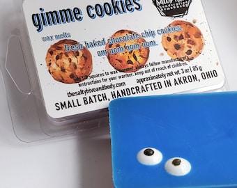 gimme cookies melts - chocolate chip cookies wax melts - dessert melts