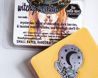 witchy woman wax melts - halloween wax melts - chocolate, berries, marshmallows, witch wax melts