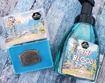 camp blood - crystal lake hand soap - friday the 13th inspired soap - horror soap