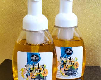 good day, sunshine foaming hand soap - fall floral hand soap - sunflower soap